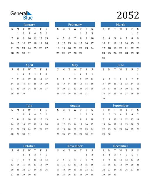 Image of 2052 2052 Calendar
