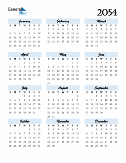 Image of 2054 2054 Calendar Cool and Funky