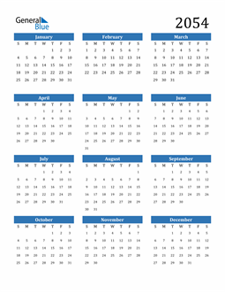 Image of 2054 2054 Calendar