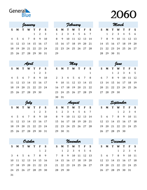 Image of 2060 2060 Calendar Cool and Funky
