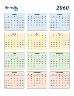 Image of 2060 2060 Calendar with Color