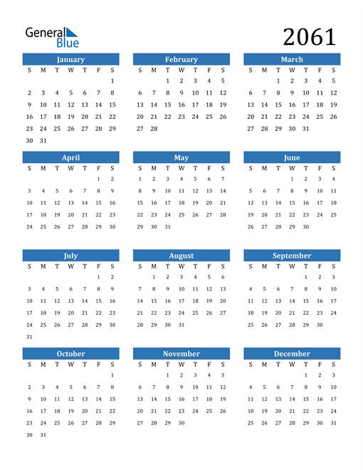 Image of 2061 2061 Calendar