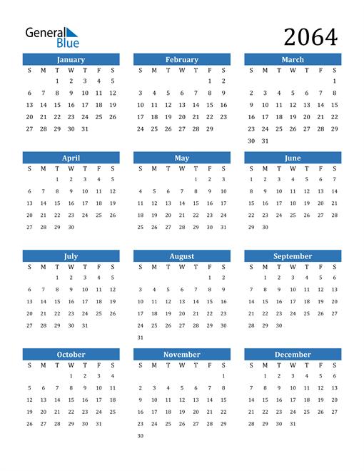 Image of 2064 2064 Calendar