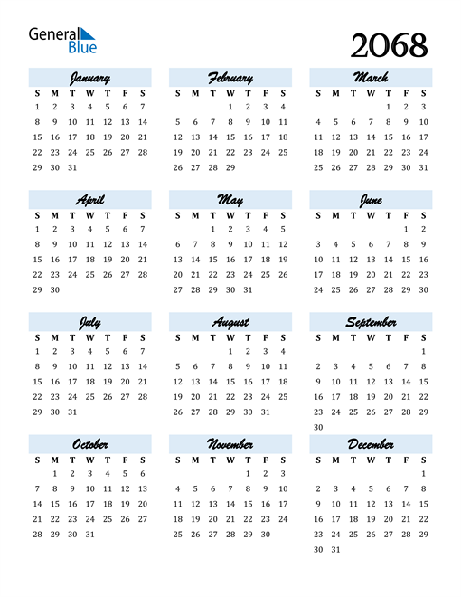Image of 2068 2068 Calendar Cool and Funky