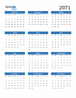 Image of 2071 2071 Calendar