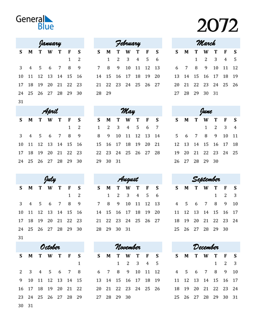 Image of 2072 2072 Calendar Cool and Funky