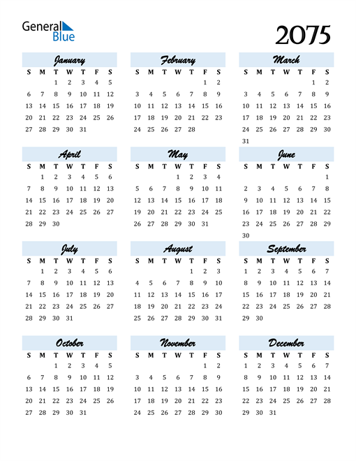 Image of 2075 2075 Calendar Cool and Funky