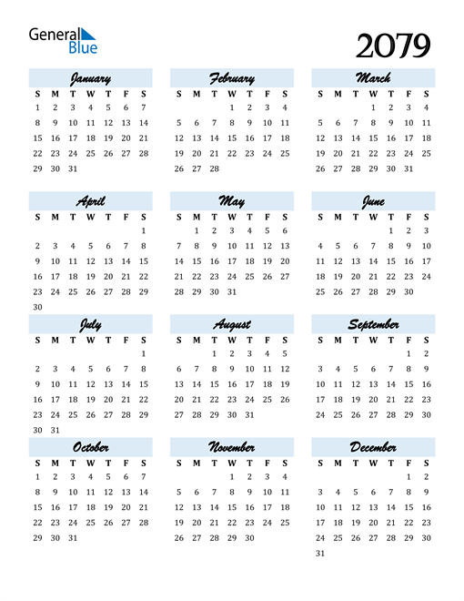 Image of 2079 2079 Calendar Cool and Funky