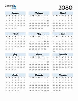 Image of 2080 2080 Calendar Cool and Funky