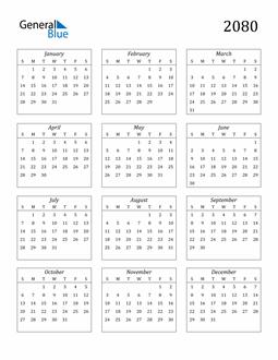 Image of 2080 2080 Calendar Streamlined