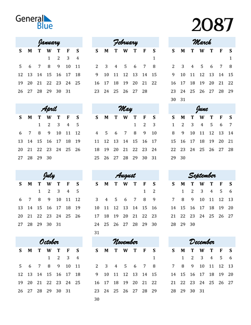 Image of 2087 2087 Calendar Cool and Funky