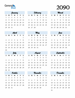 Image of 2090 2090 Calendar Cool and Funky