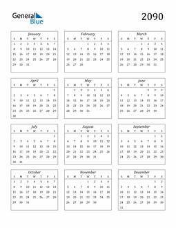 Image of 2090 2090 Calendar Streamlined