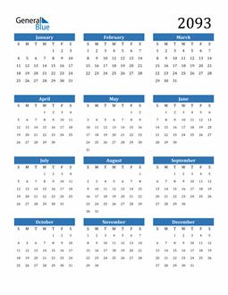 Image of 2093 2093 Calendar