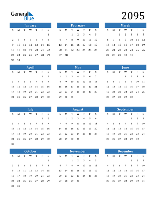 Image of 2095 2095 Calendar