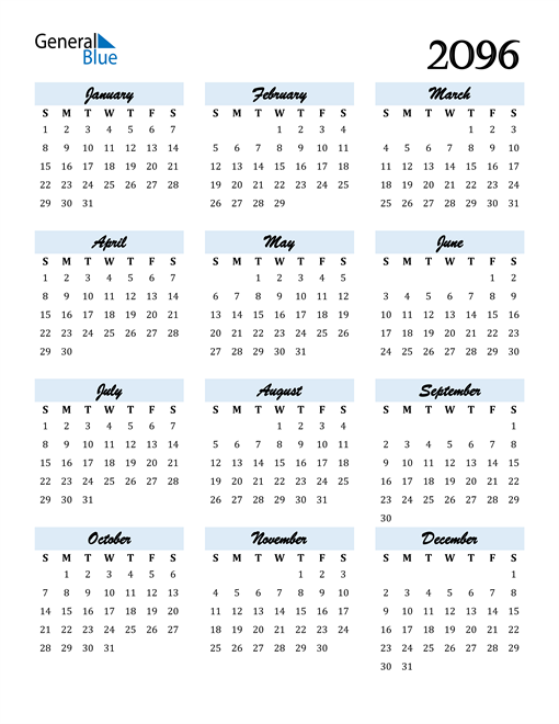 Image of 2096 2096 Calendar Cool and Funky