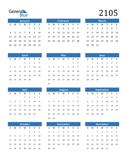 Image of 2105 2105 Calendar