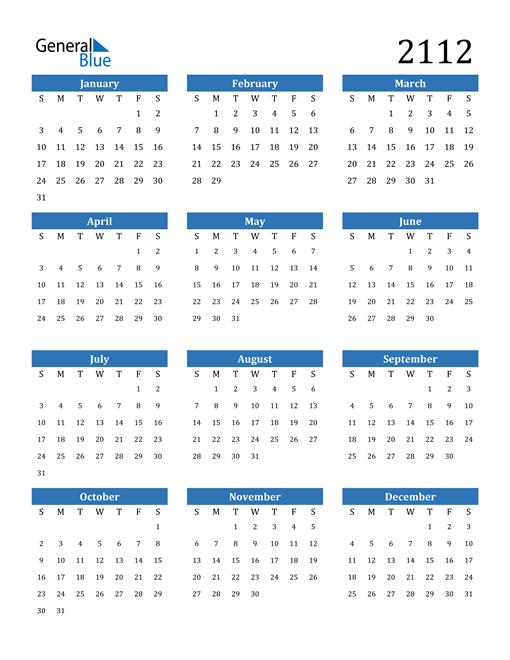 Image of 2112 2112 Calendar
