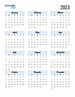 Image of 2113 2113 Calendar Cool and Funky