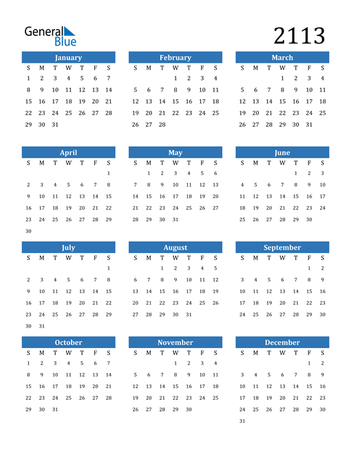 Image of 2113 2113 Calendar