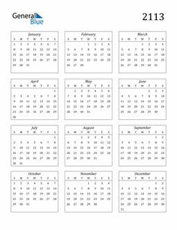 Image of 2113 2113 Calendar Streamlined