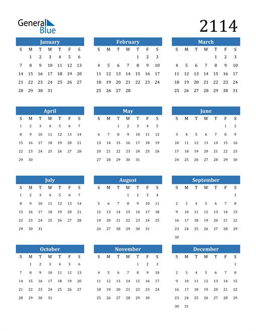 Image of 2114 2114 Calendar