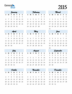 Image of 2115 2115 Calendar Cool and Funky