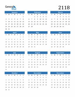 Image of 2118 2118 Calendar