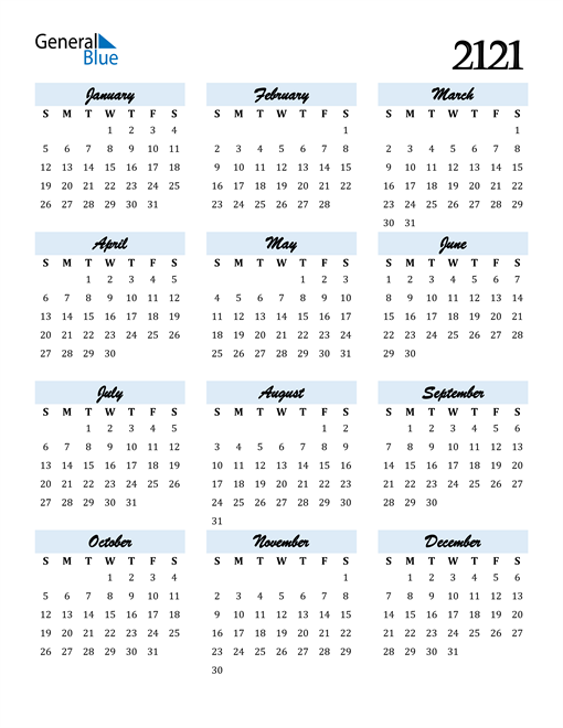 Image of 2121 2121 Calendar Cool and Funky