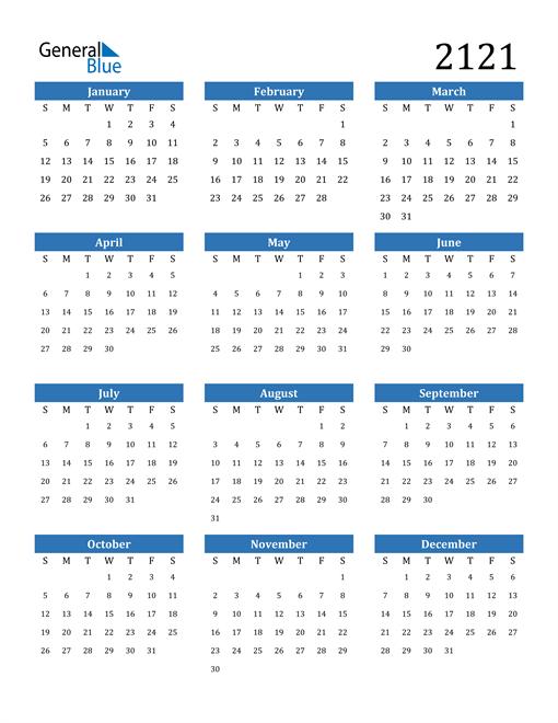 Image of 2121 2121 Calendar