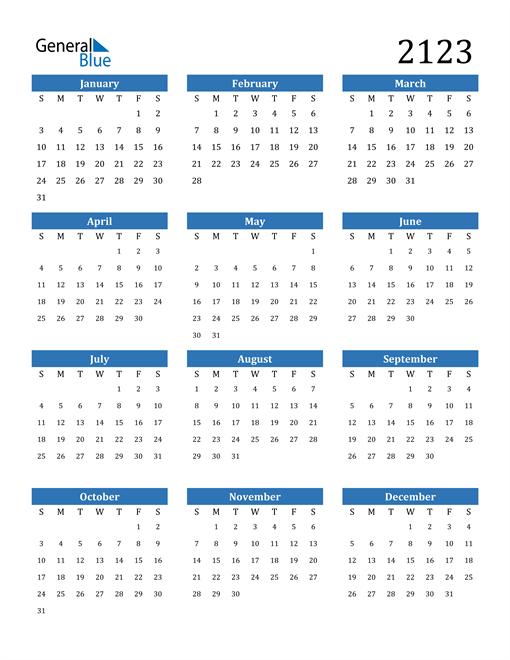 Image of 2123 2123 Calendar