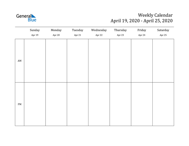 Image of Weekly Calendar