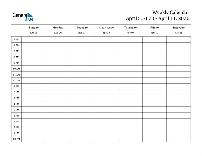 5 Day Schedule Template from cdn.generalblue.com