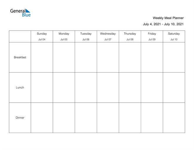 Image of Weekly Calendar