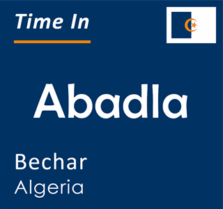 Current time in Abadla, Bechar, Algeria
