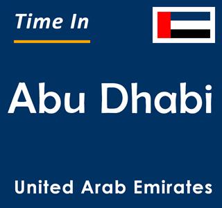 Current time in Abu Dhabi, United Arab Emirates