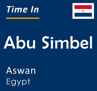 Current time in Abu Simbel, Aswan, Egypt