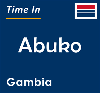 Current time in Abuko, Gambia