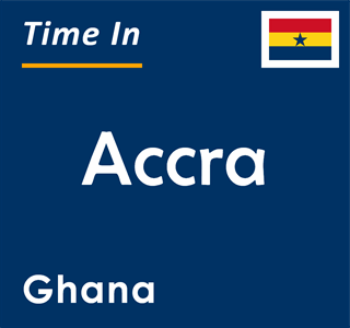 Current time in Accra, Ghana
