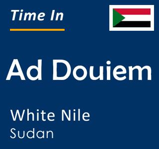 Current time in Ad Douiem, White Nile, Sudan
