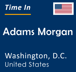 Current time in Adams Morgan, Washington, D.C., United States