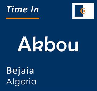 Current time in Akbou, Bejaia, Algeria