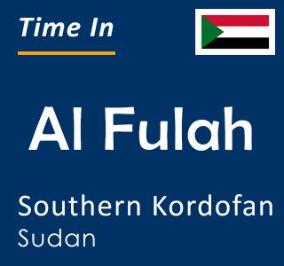 Current time in Al Fulah, Southern Kordofan, Sudan