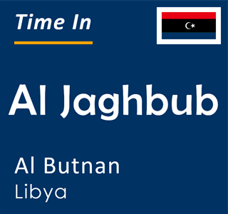 Current time in Al Jaghbub, Al Butnan, Libya