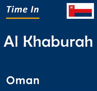 Current time in Al Khaburah, Oman