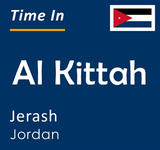 Current time in Al Kittah, Jerash, Jordan