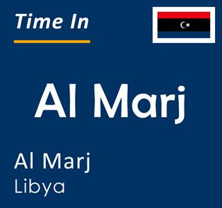Current time in Al Marj, Al Marj, Libya