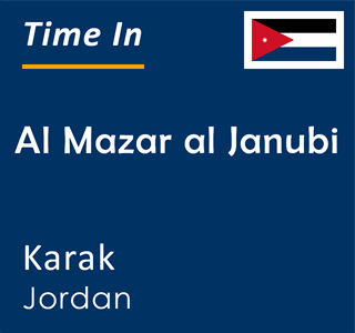 Current time in Al Mazar al Janubi, Karak, Jordan