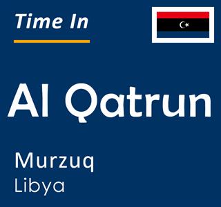 Current time in Al Qatrun, Murzuq, Libya
