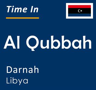 Current time in Al Qubbah, Darnah, Libya